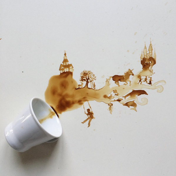 Arte con café