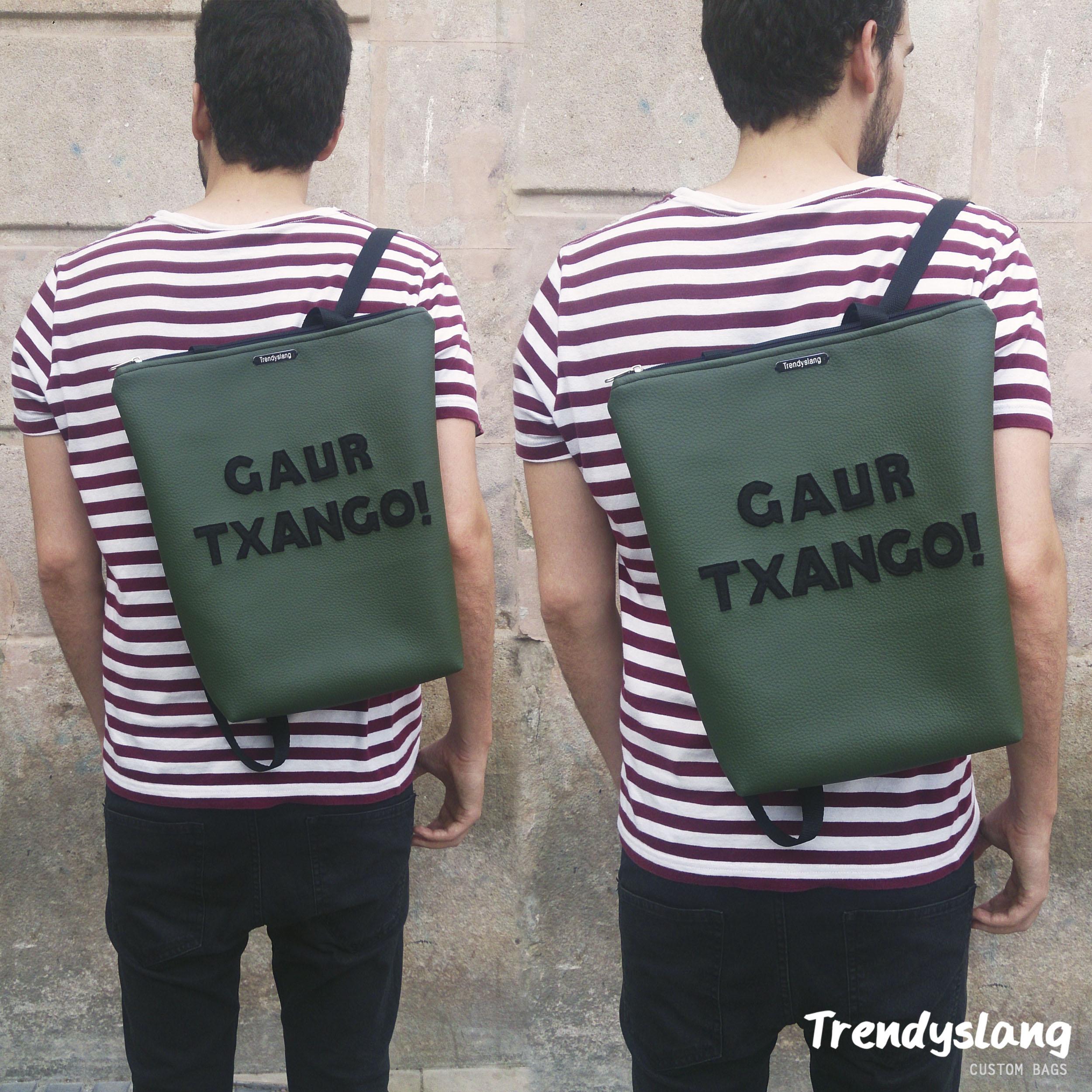 mochila personalizada euskera trendyslang