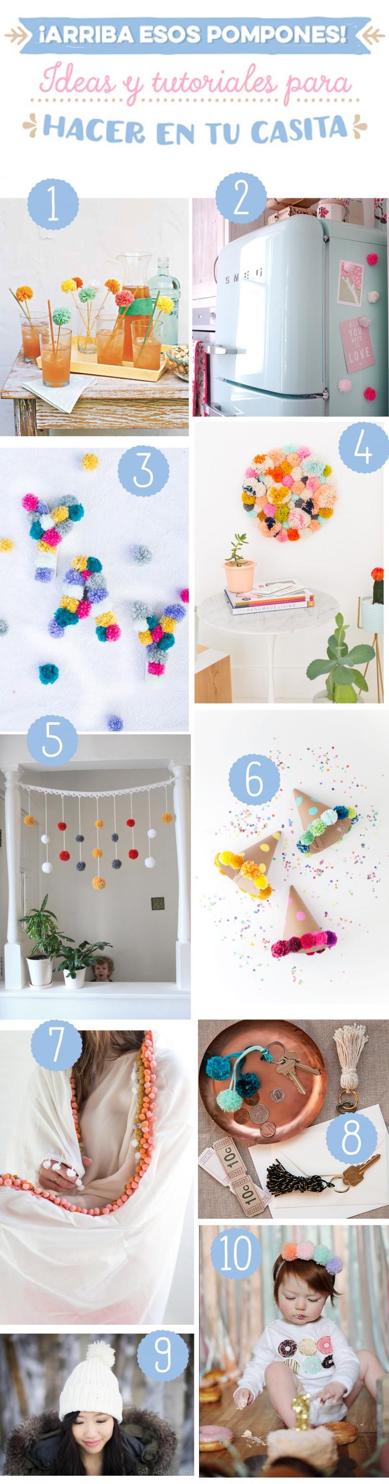 ¡Arriba esos pompones! 10 DIY para hacer en casa