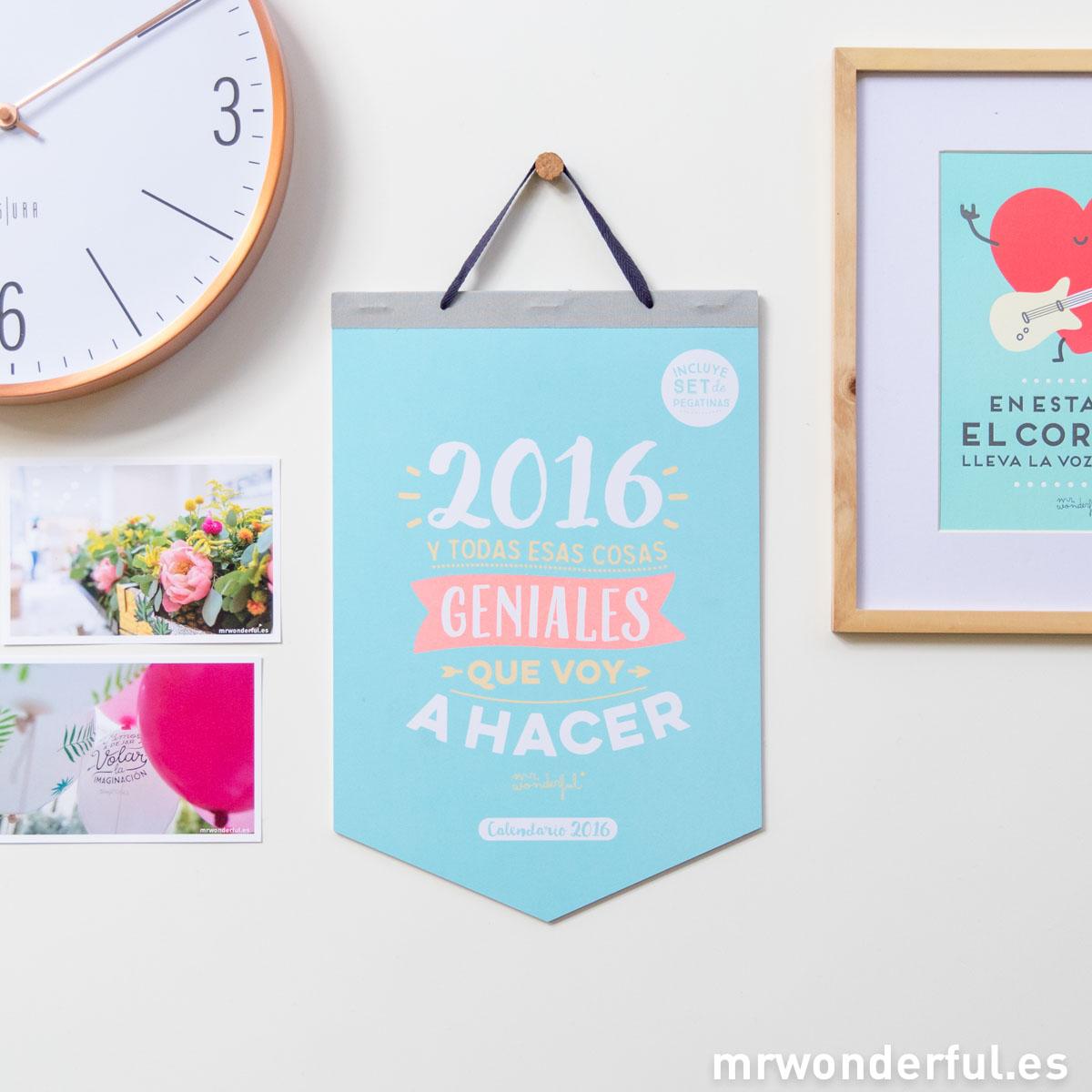 Ya están aquí los nuevos calendarios para tener un 2016