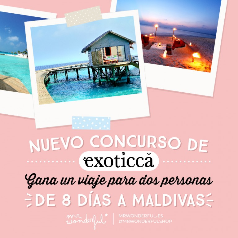 ¿Te vienes a Maldivas? ¡Tenemos nuevo concurso de Exoticca en Instagram!