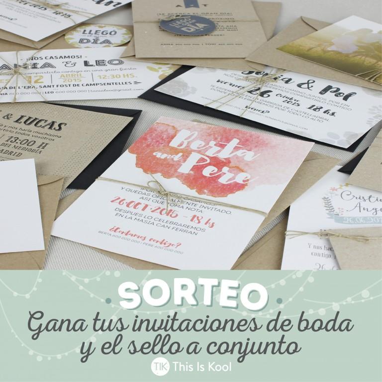 SORTEO – This Is Kool lanza nuevo catálogo de invitaciones de boda, y lo celebran regalando Invitaciones y sello personalizado a conjunto