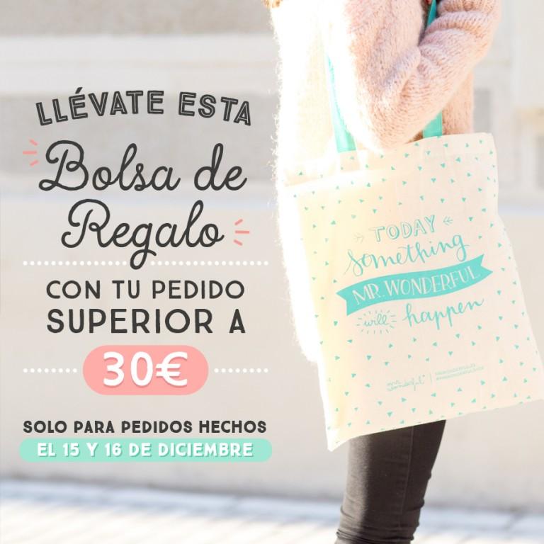 Tenemos un regalo para ti: ¡una bolsa de tela rebonita de regalo con cada pedido!