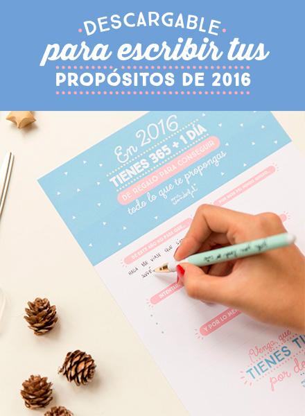 Un descargable genial para escribir todos tus buenos propósitos de 2016