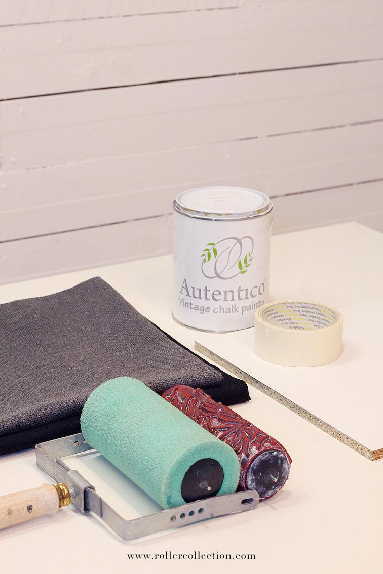 Hoy aprendemos a estampar tela con este tutorial genial de Crea, Decora, Recicla y su Roller Collection.