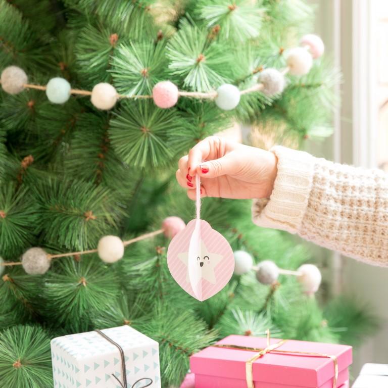 Descargable y tutorial para hacer adornos de papel para Navidad bien bonitos!