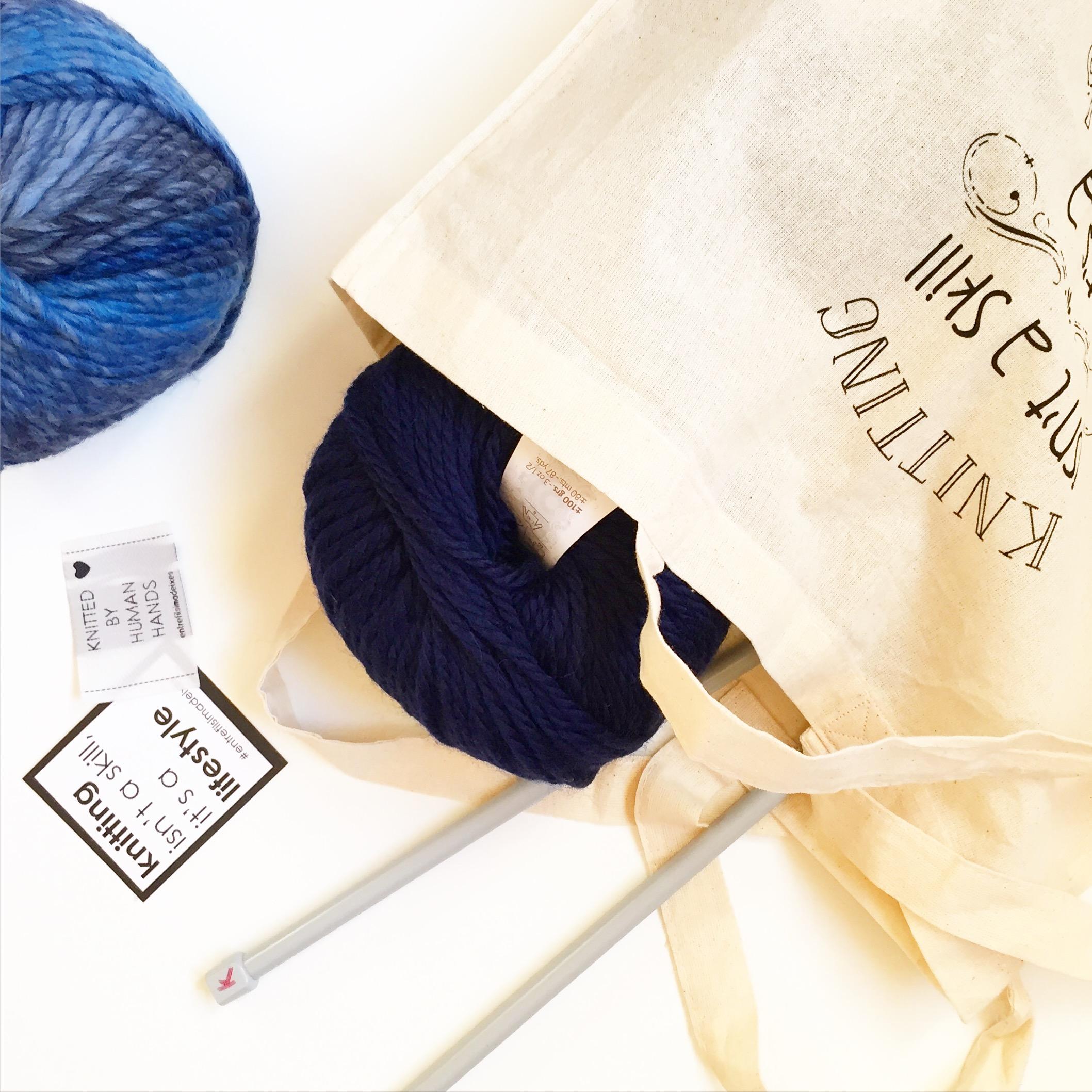 Ovillos de lana + Tote bag Entrefilsimadeixes