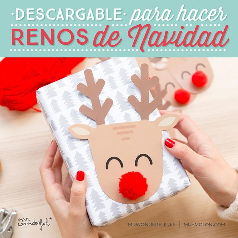 Descargable y tutorial para hacer unos renos de Navidad muy wonder