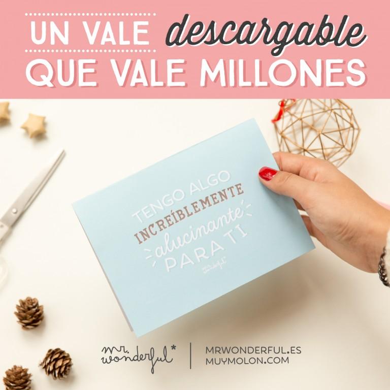 Descargable – ¡Un vale que vale millones y ahorra sofocones!