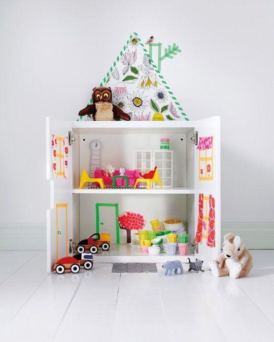DIY : casitas de muñecas muy fáciles para los peques