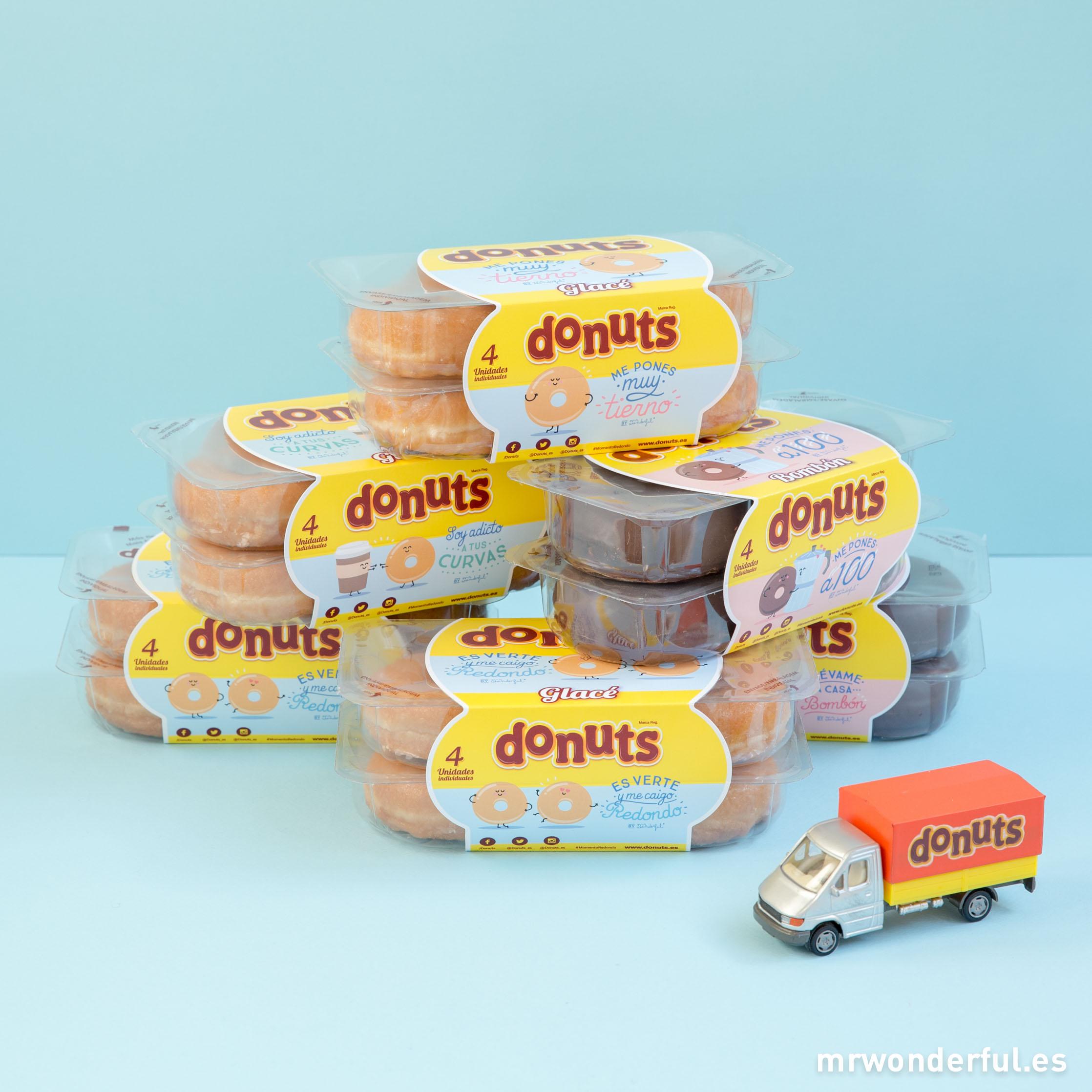Pon un pack Donuts® en tu día y llénalo de alegría ¡y más si vienen con estos mensajes tan chulos que hemos diseñado!