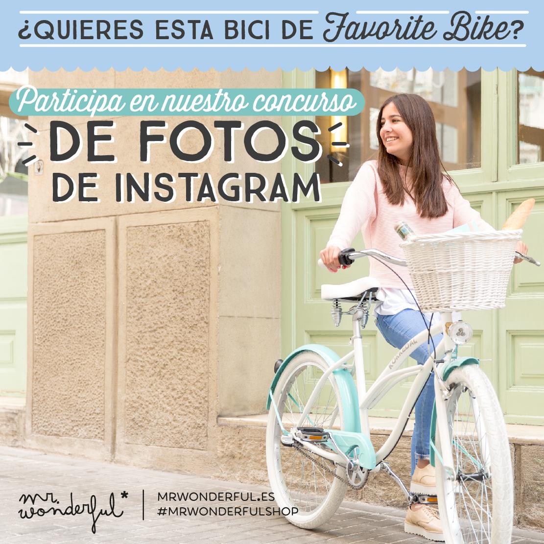 ¡Empezamos concurso de fotos en Instagram! Gana esta preciosa bici gracias a The Favorite Bike y haz de tus paseos una bonita aventura