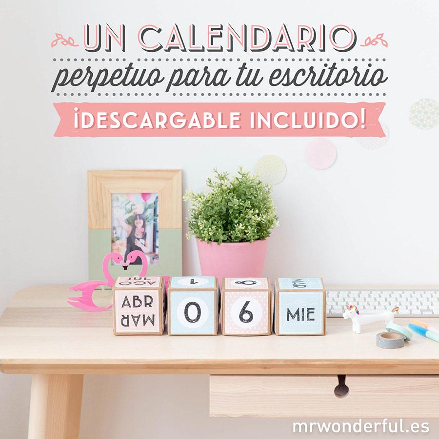 ¡Nuevo descargable y tutorial para hacer un calendario perpetuo rebonito!