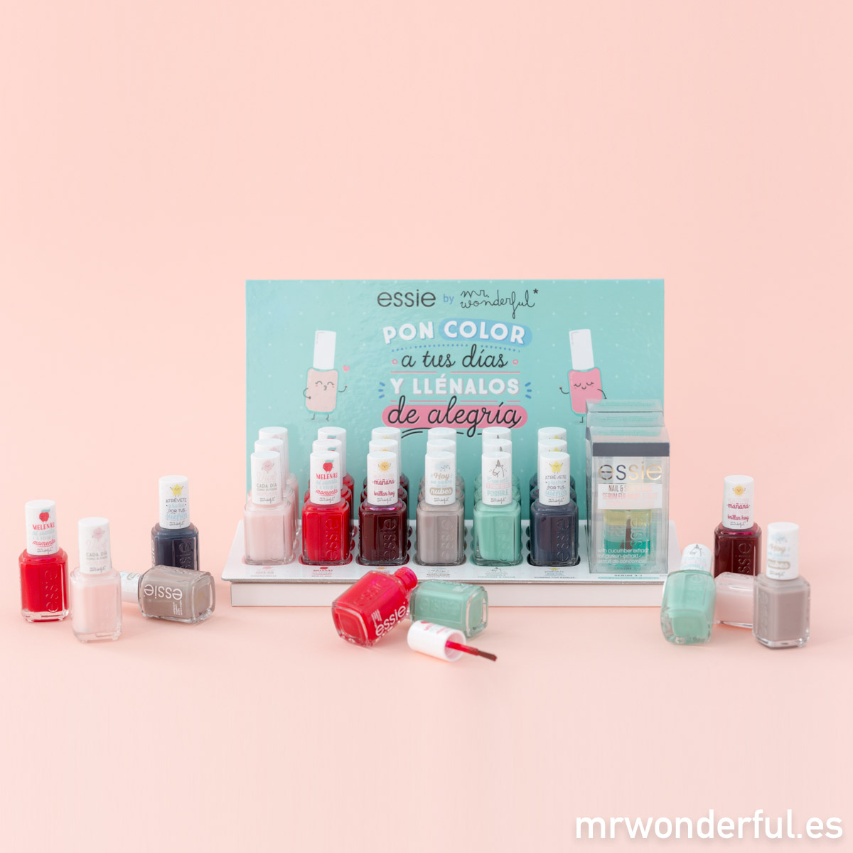 ¡Pon color a tus días y llénalos de alegría! Con la nueva colección de Essie by Mr. Wonderful