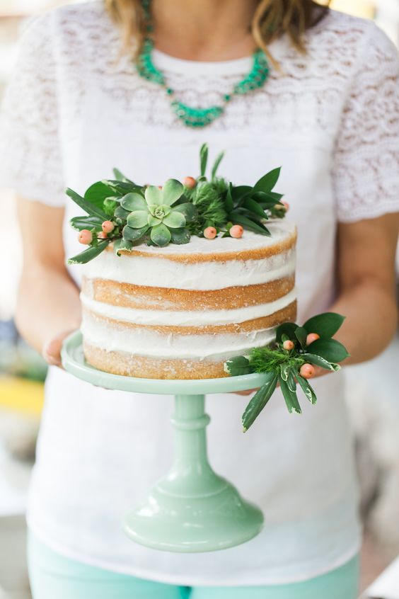 naked cakes_cactus