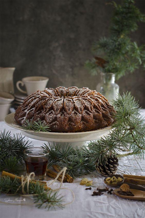 Bizcocho especiado típico de Navidad