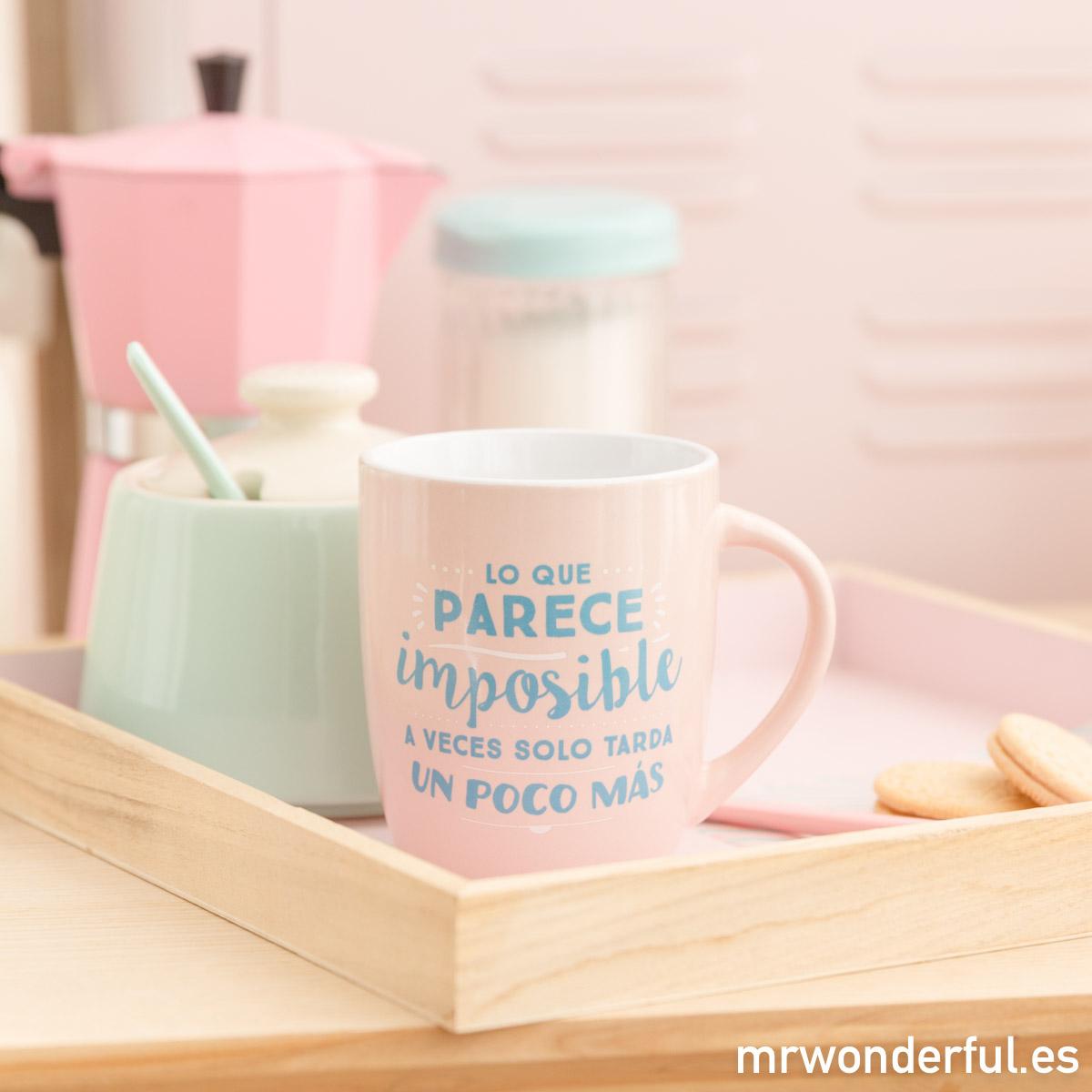 La vida es color de rosa, y estas tazas ¡también!