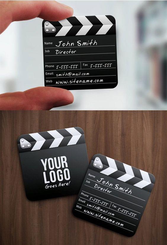 Cartões de visita criativos para realizadores, produtores...