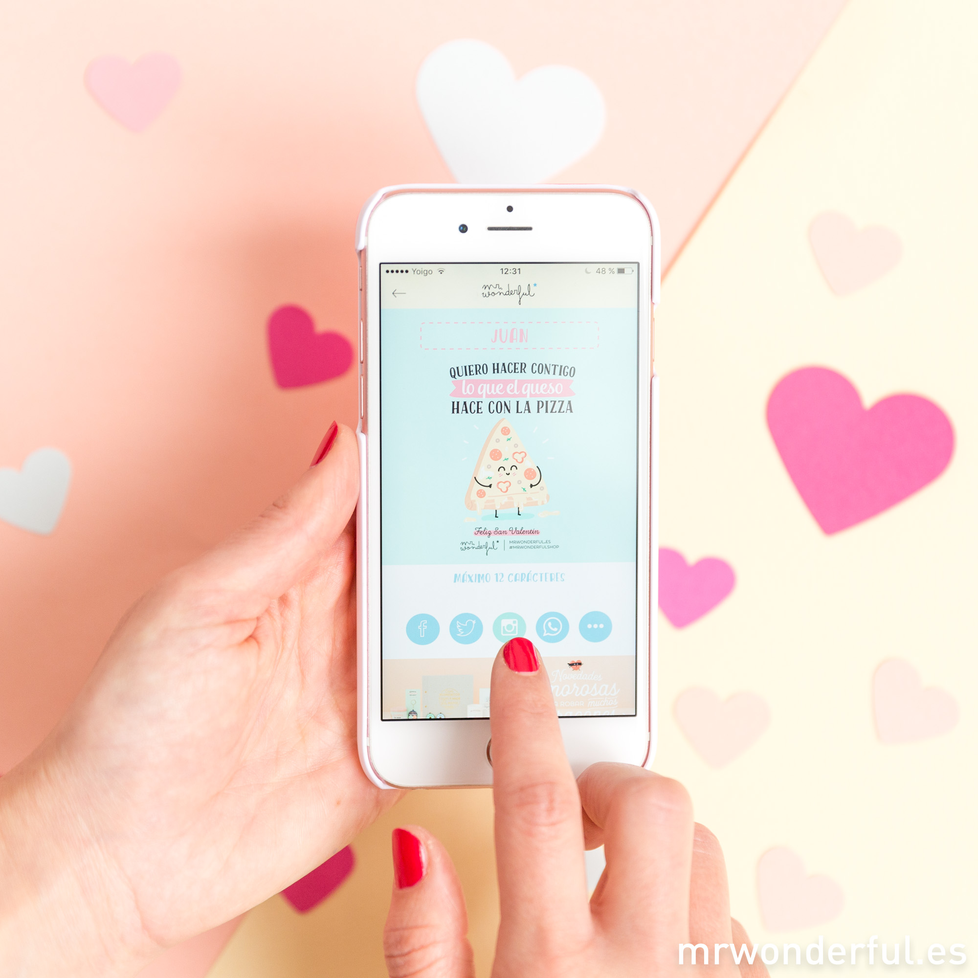 Con la app de Mr. Wonderful este San Valentín, seguro que le haces tilín…