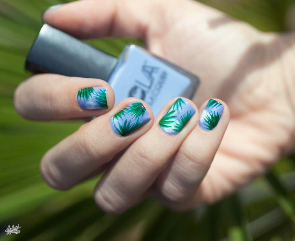 palm-leave-nail-art-idea-spring-summer2