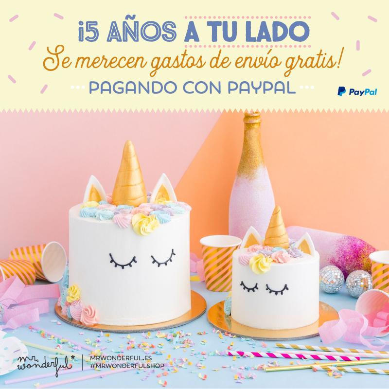 ¡Cumplewonder to you! Nosotros soplamos las velas, pero el regalo te lo llevas tú ¡tururú! ¡ENVÍOS GRATIS for you!