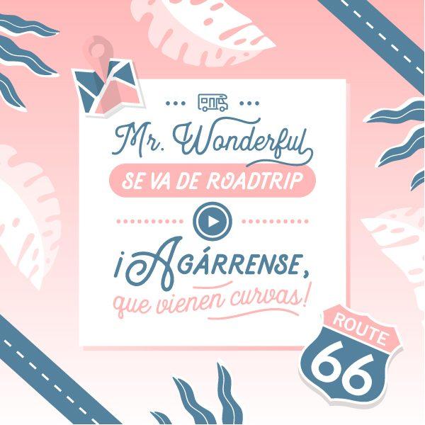 Mr. Wonderful se va de roadtrip ¿te subes al carro y nos acompañas?
