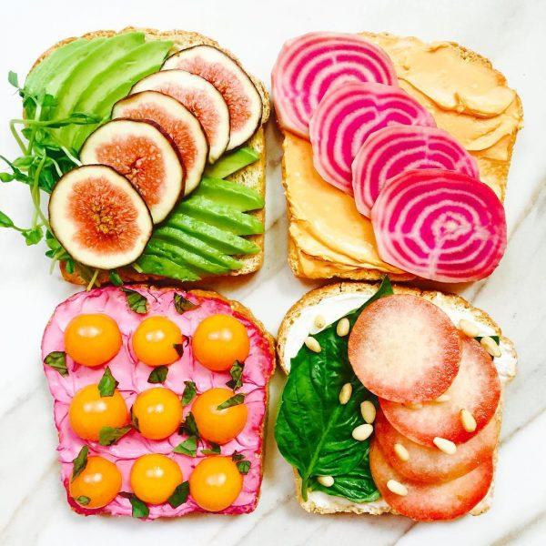 Tostas de frutas, supersaudáveis