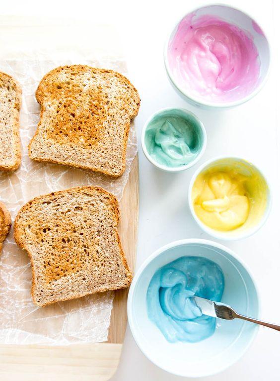 Como fazer queijo colorido para as tostinhas