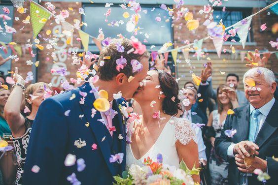 pétalos para bodas