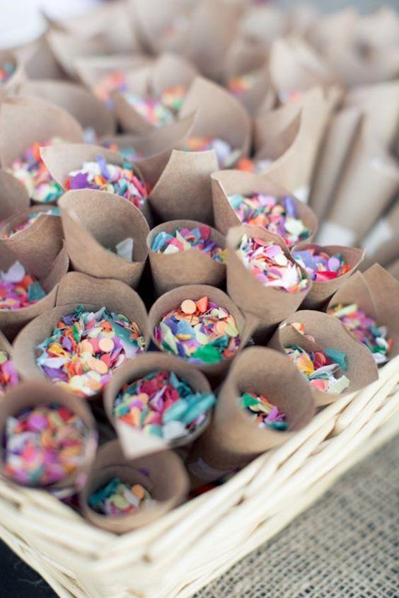 cucurucho de confeti boda
