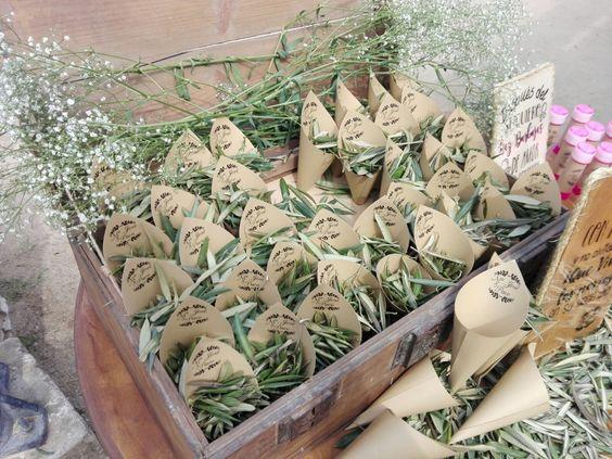 saquitos de olivo para bodas