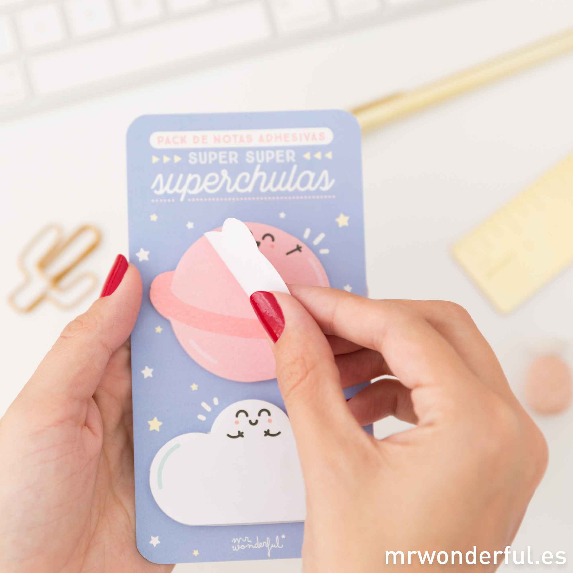 Pack de notas adhesivas de Mr. Wonderful