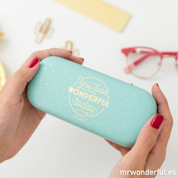 Funda de gafas mint estampada original de Mr. Wonderful