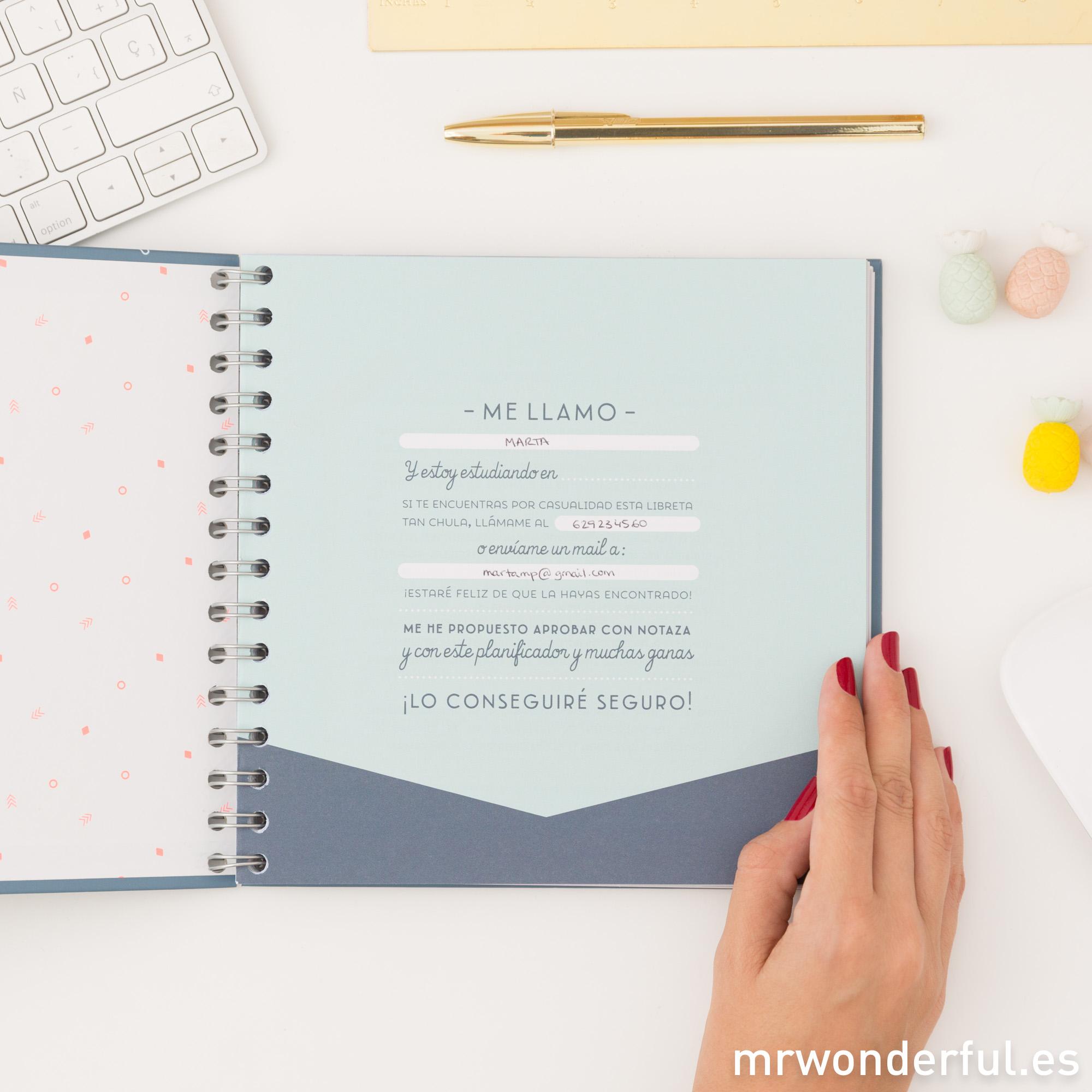 Artículos de papelería de Mr.Wonderful perfectos para estudiar