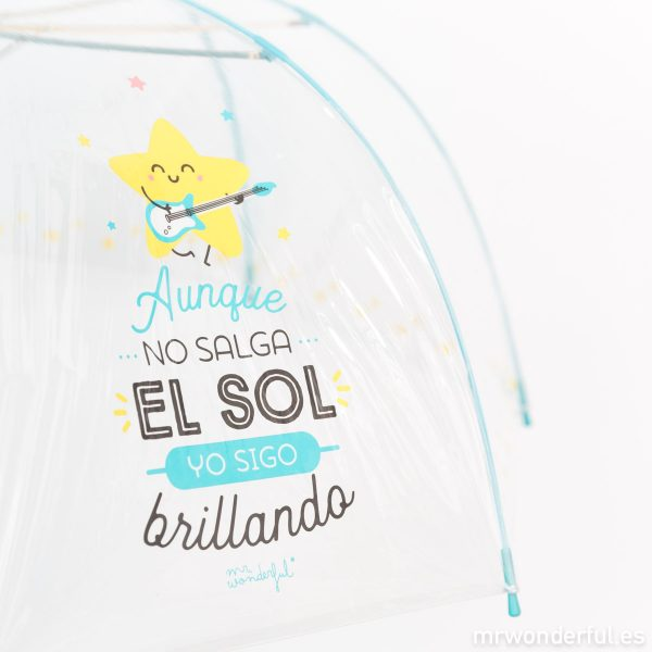 Paraguas transparente bonito de Mr. Wonderful