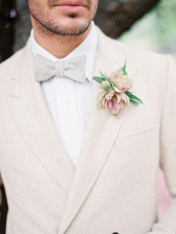 Traje de boda hombre color claro