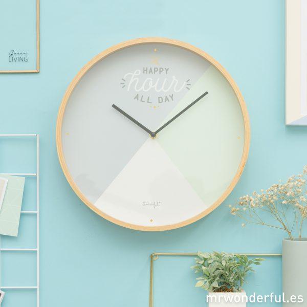 Reloj de pared de Mr. Wonderful