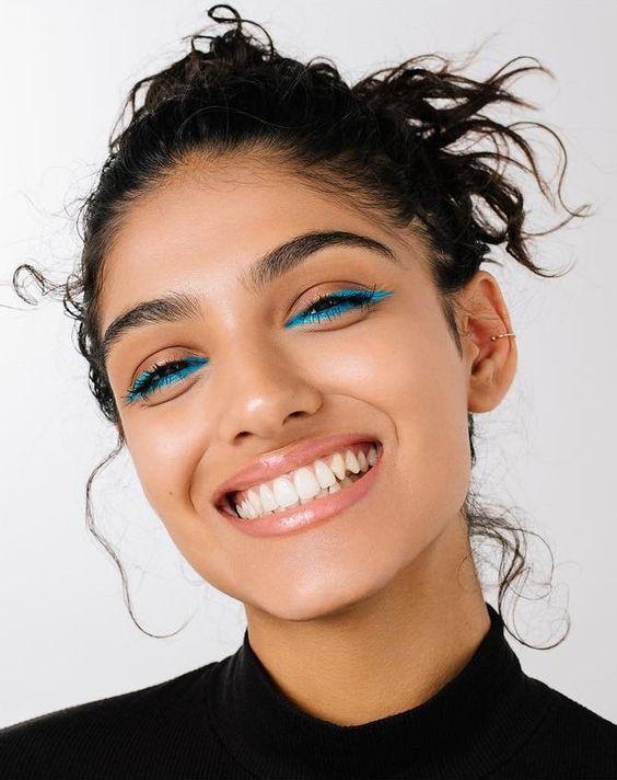 maquillaje de ojos color