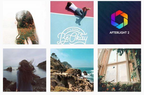 aplicaciones para retocar fotos Afterlight Instagram