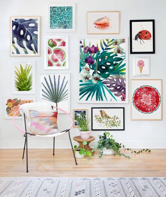 Te ayudamos a decorar paredes con cuadros y que te quede for Decorar paredes con cuadros y espejos