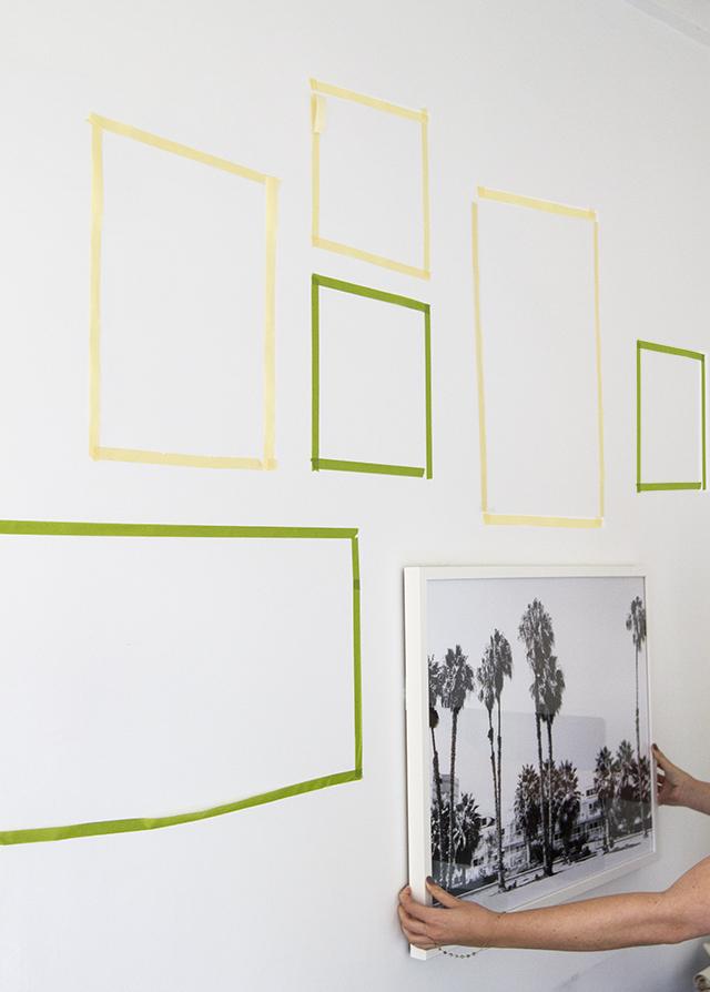 Proyecto para colgar cuadros de diferentes tamaños