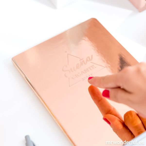 Libreta con efecto espejo de Mr. Wonderful
