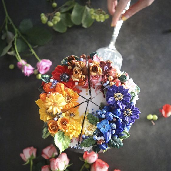 arte floral pastelería