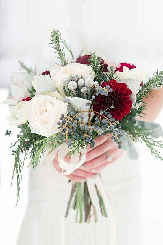 Flores para novias de invierno