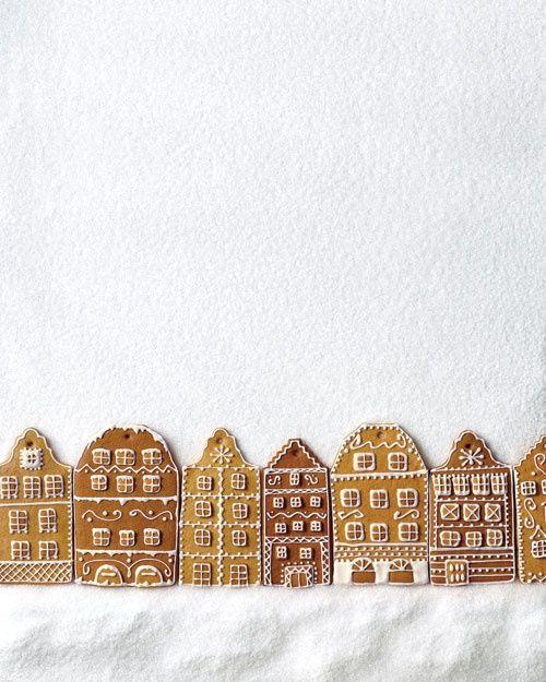 Barrio hecho de galletas de Jengibre