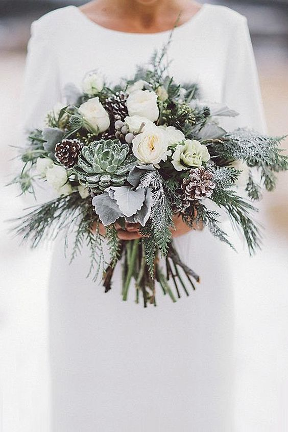 ¿Te casas en invierno? Te damos algunas ideas de ramos de novia que te dejarán frozen