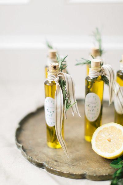Aceite de oliva como detalle para bodas.