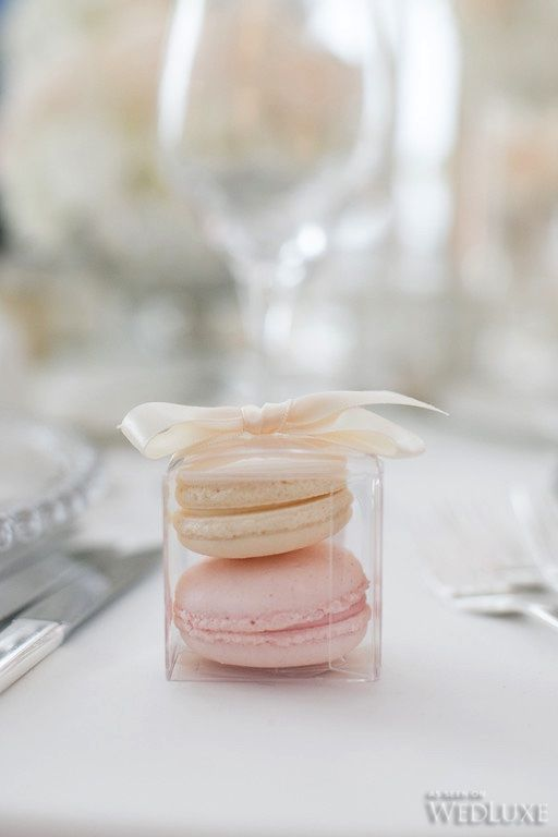 Macarons para regalar en bodas.