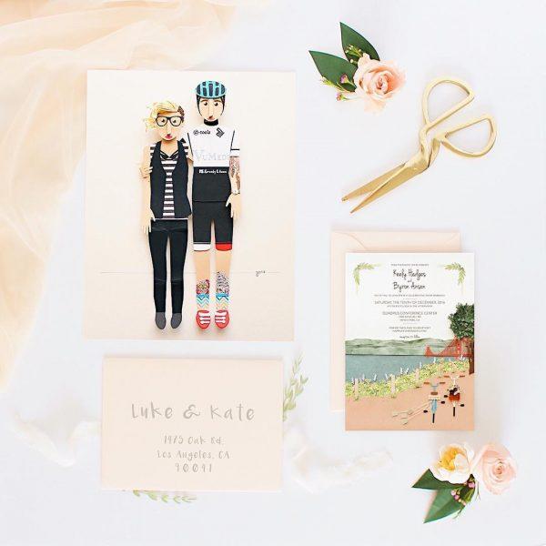 invitación de boda de papel