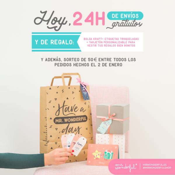 Tienes 24 horazas para que tus regalos de Reyes vengan con envíos gratis y tooodo lo que necesitas para envolverlos.